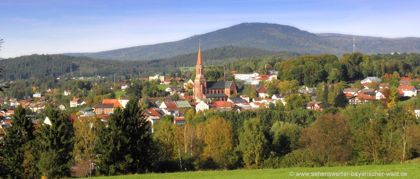 Ausflugsziele Bayerischer Wald Sehenswürdigkeiten in Zwiesel