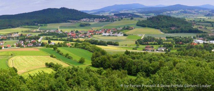 Gruppenunterkunft in Bayern - schöne Bayerischer Wald Landschaft