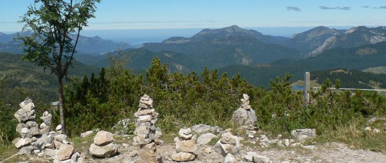 Ferienhütte mieten Chiemgauer Alpen Steinplatte Aussicht