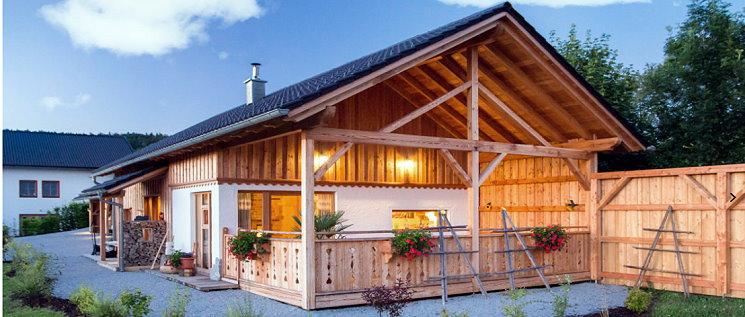 Bayerischer Wald Romantik Chalet Luxus Ferienhaus Ansicht