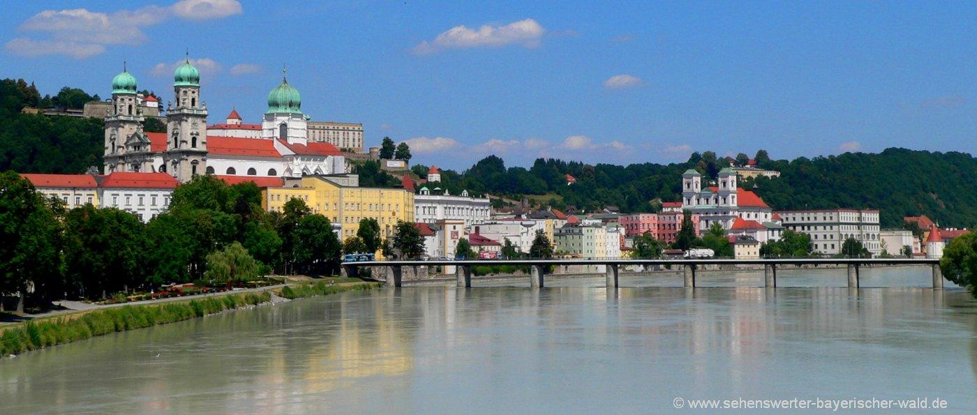 Ausflugsziele in Niederbayern Sehenswürdigkeiten der Stadt Passau