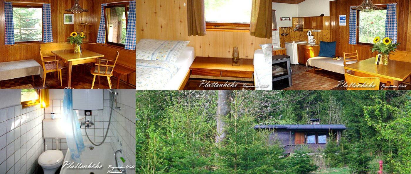 plattenhöhe-holzhaus-bayern-einfache-ferienhütten-innen-bilder-collage