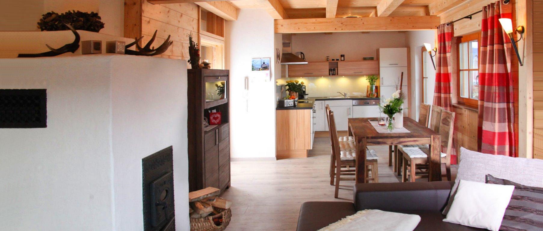 Bayerischer Wald Jagdhaus Chalet mit Kamin Ofen und Holzofen