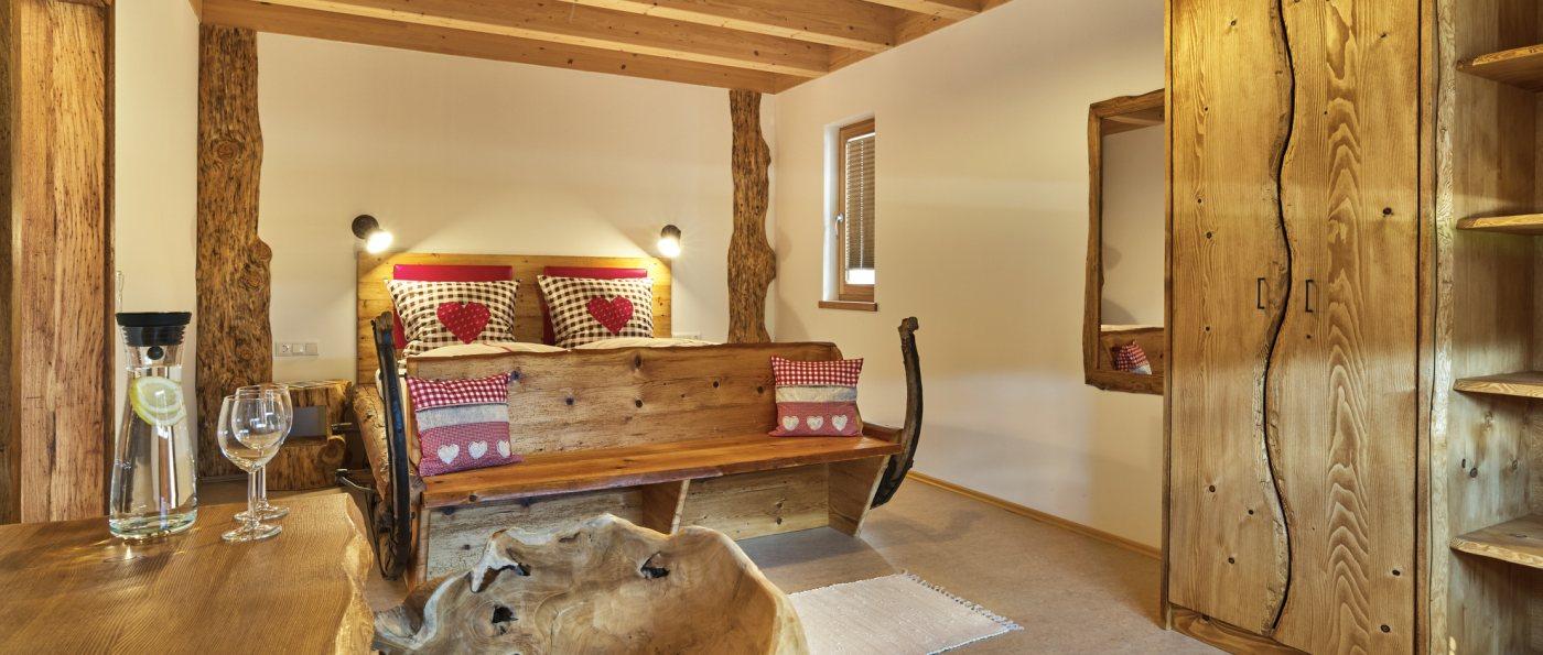 Wellness Schlafzimmer am Bauernhof Wieshof